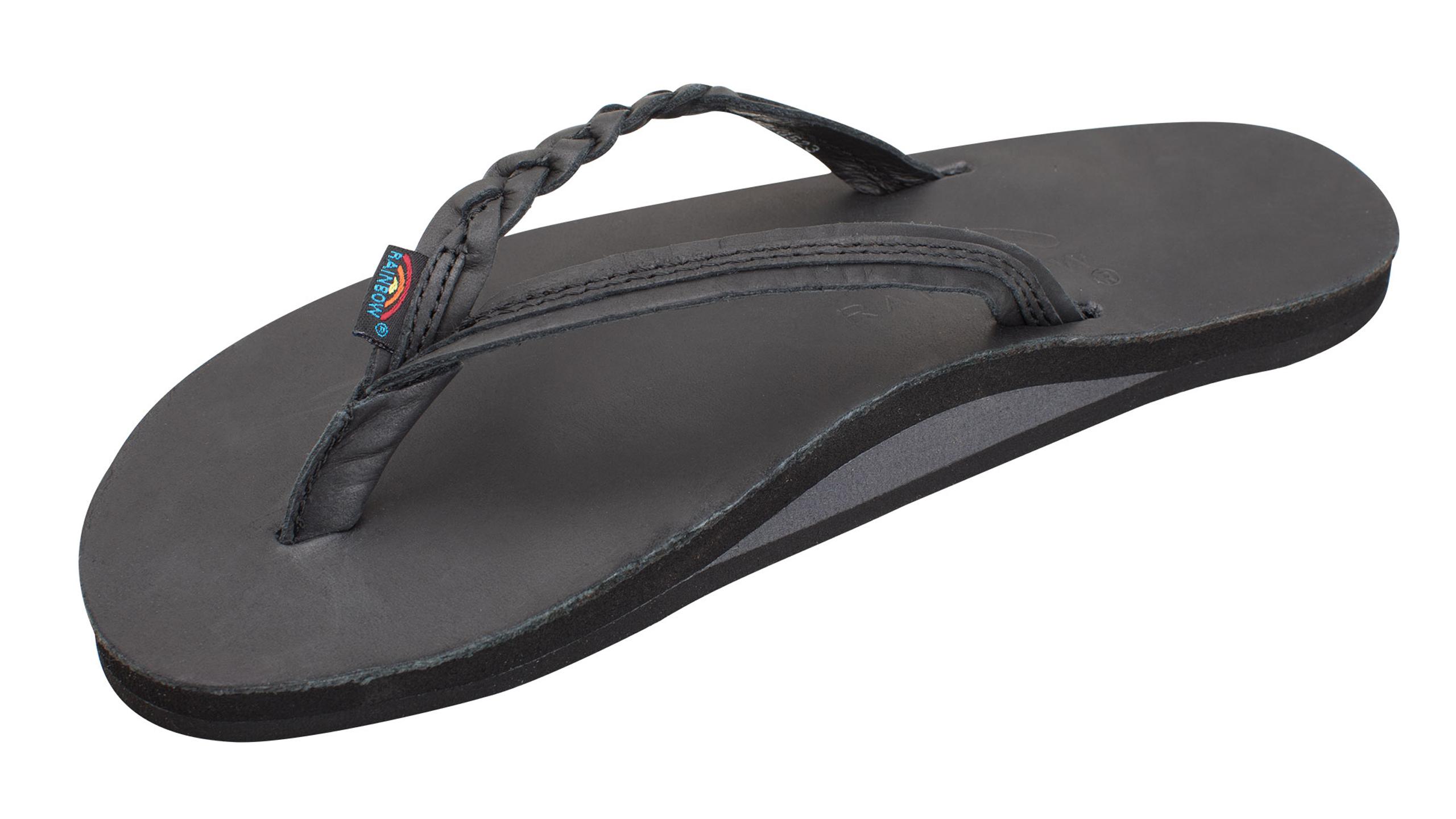 black rainbow flip flops womens Shop