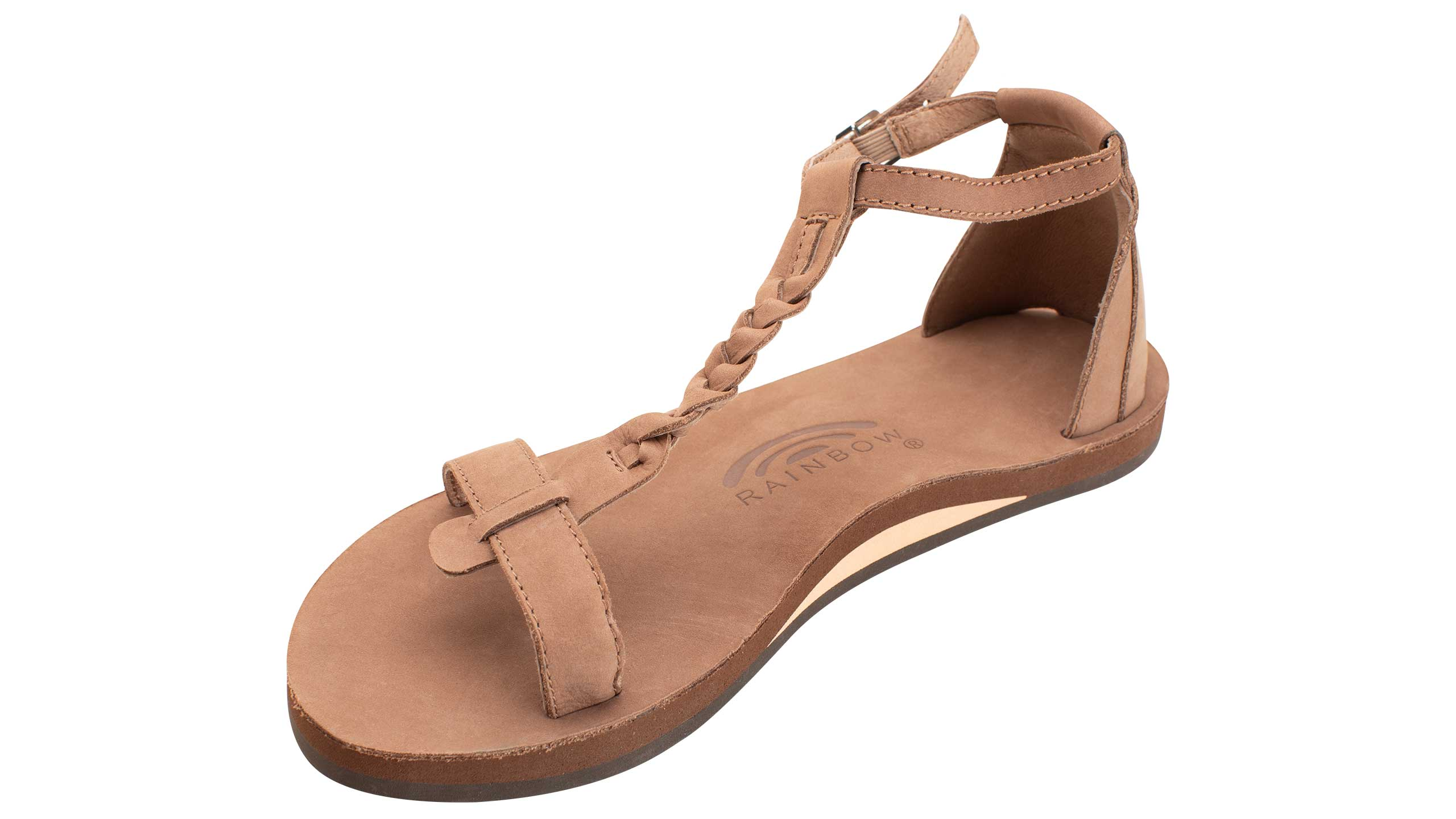 NEW WOMEN RAINBOW SANDAL CALAFIAO DARK BROWN FOOT LOOP SANDALS